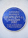 GERARD MANLEY HOPKINS SJ 1844-1889 Poet lived and studied in Manresa House.jpg