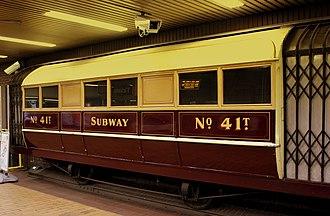 Hurst Nelson - A Glasgow Subway 4-wheel carriage.