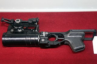 GP-25 Under barrel grenade launcher