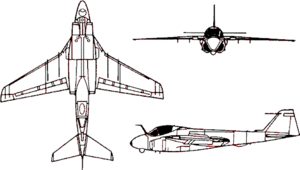 Orthographic projection of an A-6 Intruder