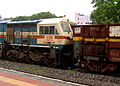 GTY based WDG-4 locos with Freight Tanker at Malkajgiri 04.JPG