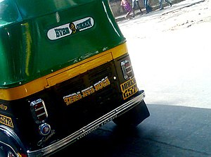 Sholay - Image: Gabbar Singh dialogue from Sholay on the back of auto rickshaw