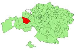 Location of Galdames in Biscay.