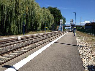 railway station in Duppigheim, France