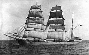 Clipper route - S. V. Garthneill