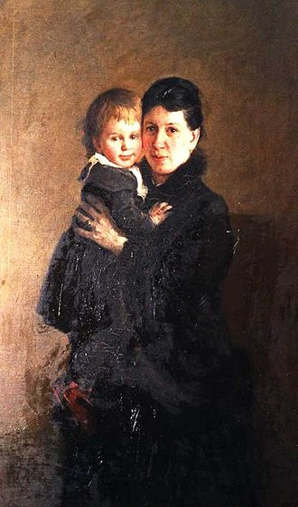 Leo Tolstoy - Tolstoy's wife Sophia and their daughter Alexandra