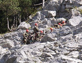 <i>Gebirgsjäger</i> Light infantry of alpine or mountain troops of Germany and Austria