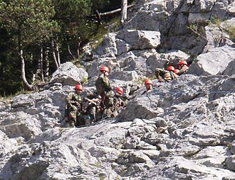 Gebirgsjäger - German Gebirgsjäger during a climbing exercise