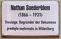Gedenktafel Kirchplatz 11 (Wittenberg) Nathan Söderblom.jpg
