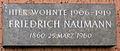 Gedenktafel Naumannstr 24 (Schöb) Friedrich Naumann.JPG
