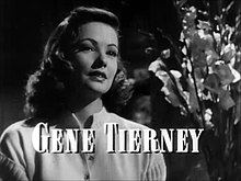 Gene Tierney In The Film Trailer For Laura (1944)