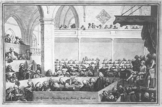 General Assembly of the Church of Scotland - The General Assembly meeting in Edinburgh in 1787