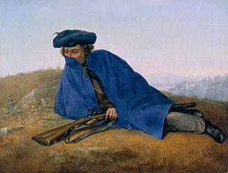 Georg Friedrich Kersting - Outpost Duty, oil on panel (1829)