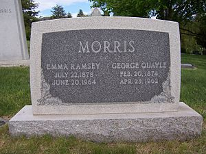 George Q. Morris - Grave marker of George Q. Morris (front side).
