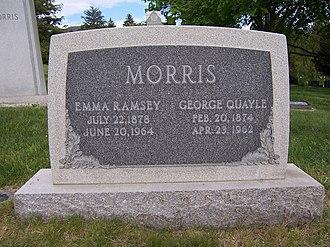 George Q. Morris - Grave marker of George Q. Morris (front side).