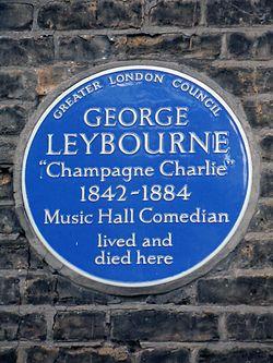 George leybourne blue plaque