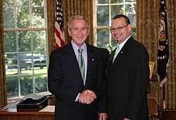 George W. Bush and Ronald Jumeau.jpg