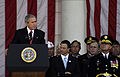 George W. Bush at the Veterans Day ceremony at Arlington Cemetery in 2006.jpg