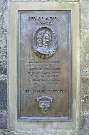 George Watson's College - 250th anniversary plaque in Edinburgh's Greyfriars Kirkyard