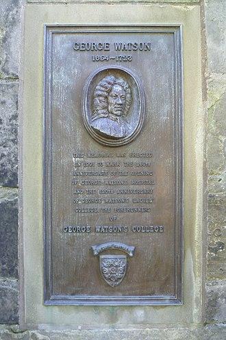 George Watson's College - 250th anniversary plaque in Edinburgh's Greyfriars Kirkyard