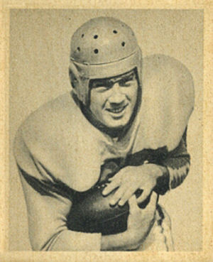 Gerard Cowhig - Cowhig on a 1948 Bowman football card