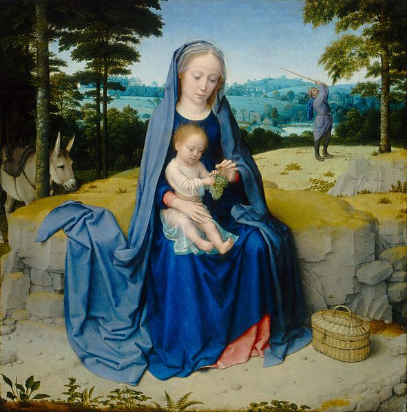 File:Gerard David - The rest on the flight into Egypt (National Gallery of Art).jpg