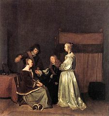 Elegant company in an interior, ca. 1655
