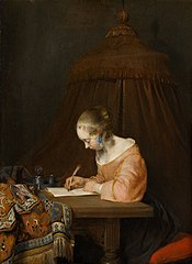 Woman writing a letter
