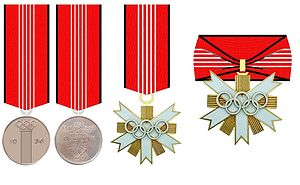 German Olympic Decoration - German Olympic Decoration: Memory Medal, 2nd Class, 1st Class (from 1957)