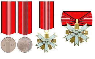 German Olympic Decoration - German Olympic Decoration: Commemorative Medal, 2nd Class, 1st Class (from 1957)
