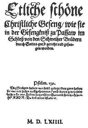 Ausbund - Ausbund title page