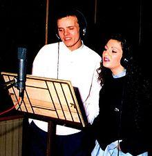 Gigi D'Alessio e Ida Rendano nel 1992