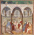 Giotto di Bondone - Legend of St Francis - 17. St Francis Preaching before Honorius III - WGA09141.jpg
