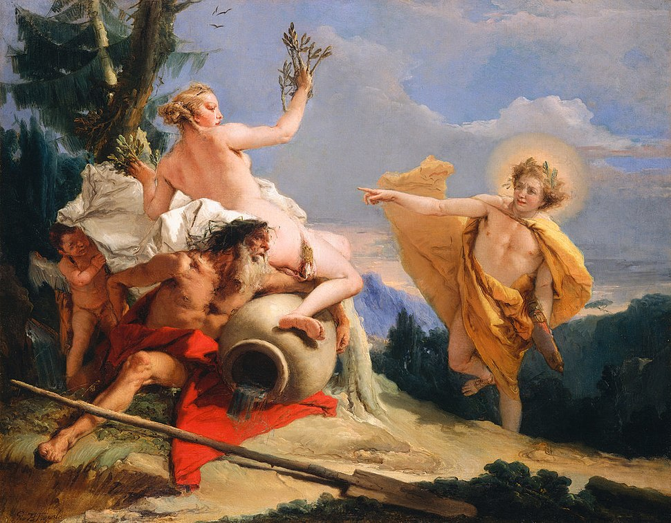 Giovanni Battista Tiepolo - Apollo Pursuing Daphne, 1755-1760