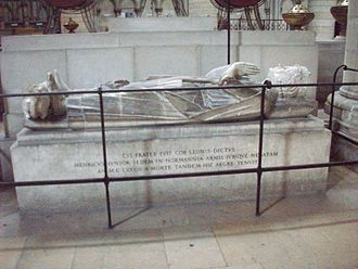 Henry the Young King - Tomb and effigy of Henry in Rouen Cathedral
