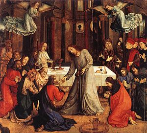 Justus van Gent - Communion of the Apostles