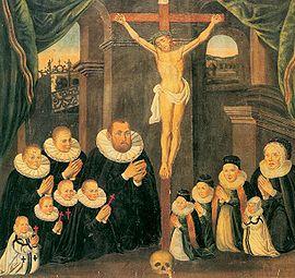 Glasmacherfamilie Familie Friedrich mit Kreuz 1596