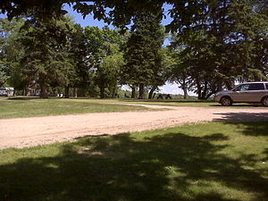 Glendalough State Park - This is a scene of one of Glendalough State Park's picnic and beach areas.