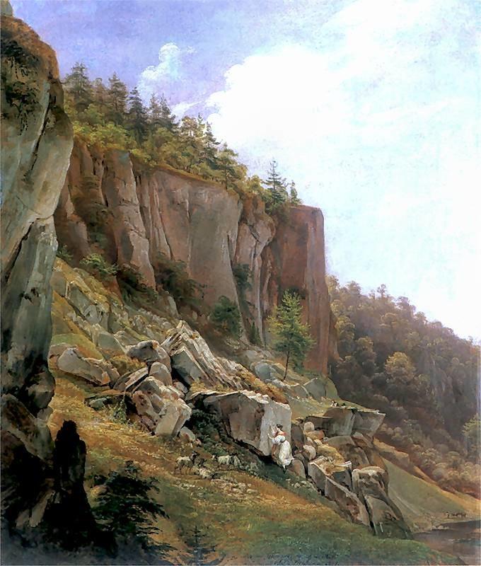 GlowackiJanNepomucen.1844.KrajobrazZOjcowa