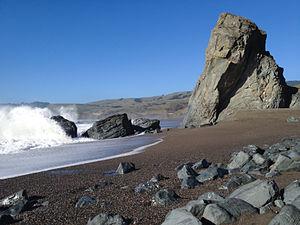 Goat Rock Beach - Rock formation on Goat Rock Beach