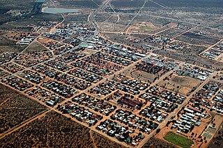 Gobabis City in Omaheke Region, Namibia