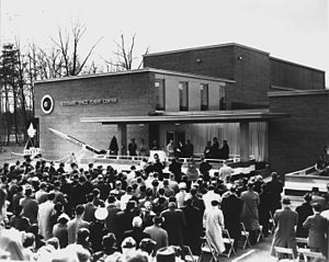 History of the Goddard Space Flight Center - Photo from the opening day ceremony of the Goddard Space Flight Center on March 16, 1961.