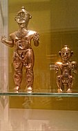 Gold Lime Flasks (poporos) Quimbaya Culture, Colombia AD 600-1100 - British Museum.jpg