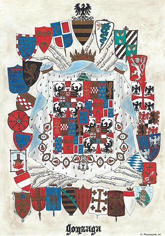 House of Gonzaga - The coat of arms of the Duchy of Mantua.