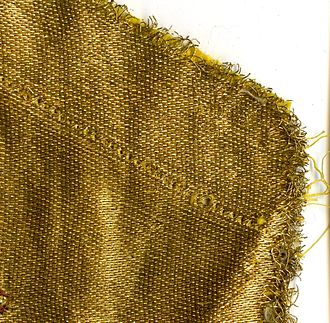 Cloth of gold - Image: Goudlaken satijnbinding voorzijde