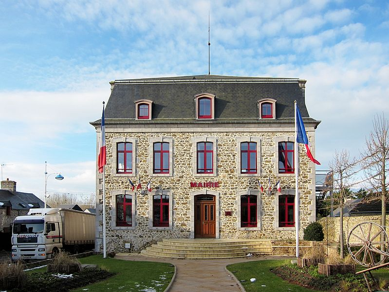The Town hall of Gouville-sur-Mer (Manche, France).