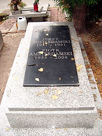 Grób Piotra Amsterdamskiego na cmentarzu komunalnym Doły w Łodzi..jpg