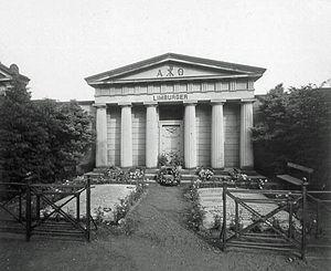 Friedenspark - Mausoleum of the von Limburger family, Neuer Johannisfriedhof, 1902