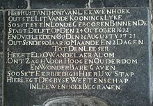 Gravestone with Dutch inscription