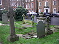 Grave of George Du Maurier with Church Row.jpg